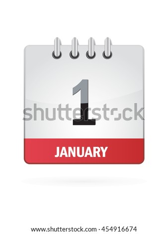 January One. Calendar Icon