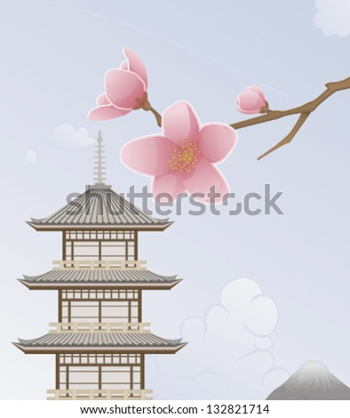 Japan Background - stock vector