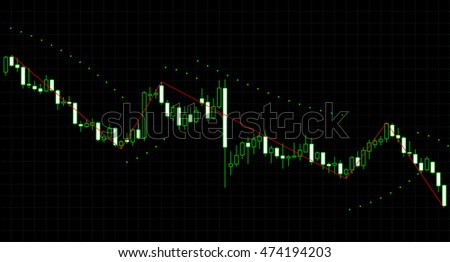 Japan candlestick charts. Vector illustration. Forex financial diagram. Analysing stock market data. Tools of technical analysis. Share price quotes.