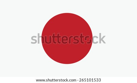 japan Flag for Independence Day and infographic Vector illustration.