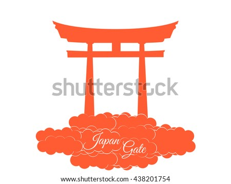 Japan gate isolated on white background. Symbol Japan. - stock vector