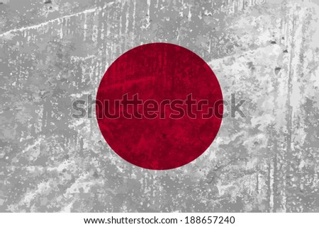 Japan, japanese flag texture background vector illustration