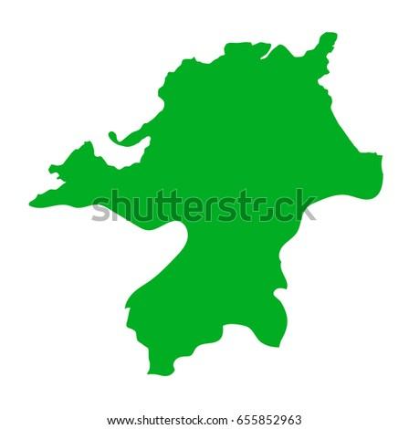 Japan Map Fukuoka Prefecture Stock Vector 655852963 Shutterstock