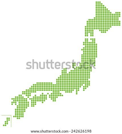 japan map  Vector - stock vector