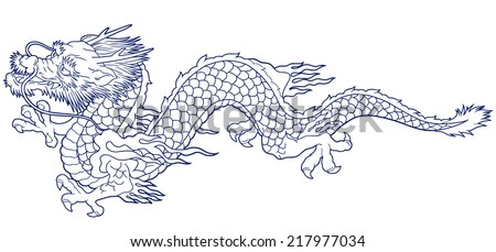 Chinese dragon mask coloring page