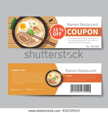 Discount Voucher Fast Food Template Design Stock Vector