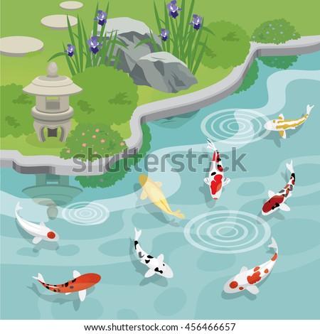 Pond stock photos royalty free images vectors for Koi fish farm near me