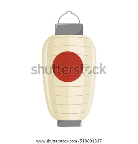 Japanese Lamp Isolated Icon