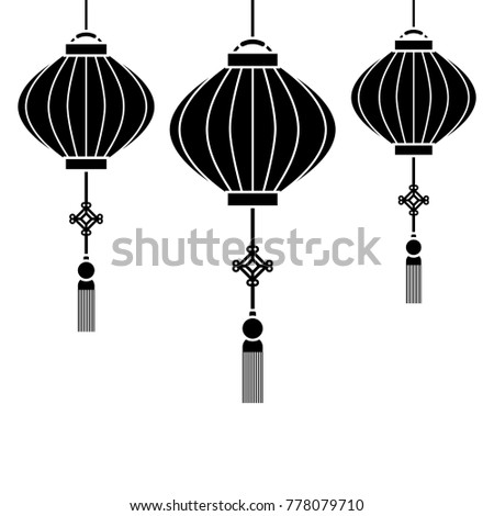 Japanese Lamps Hanging Icon