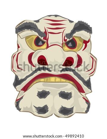 Japanese Mask - stock vector