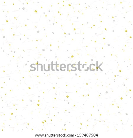 Japanese paper with golden and silver leaf. - stock vector