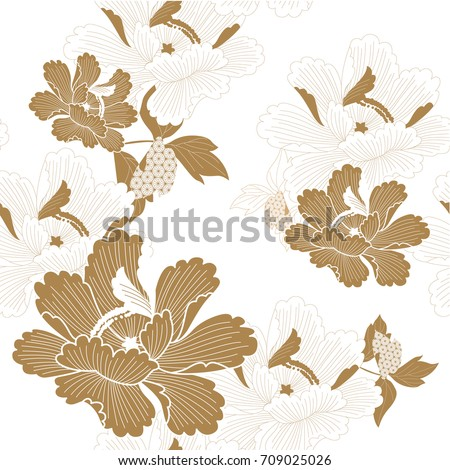 Japanese pattern seamless vector traditional flower stock vector japanese pattern seamless vector in traditional flower graphic style background for backdrop template cover toneelgroepblik Image collections