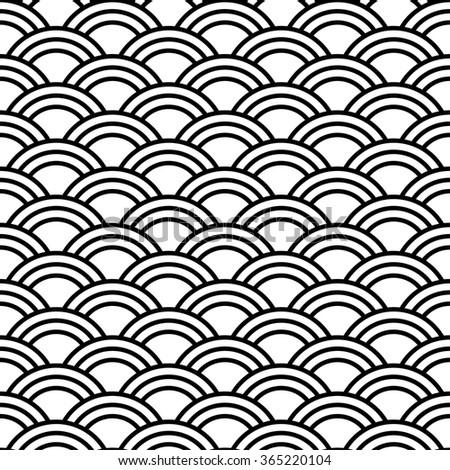 japanese fan pattern vector illustration asian stock