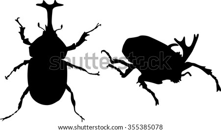 japanese rhinoceros beetle (Kabuto) Vector, T-shirt