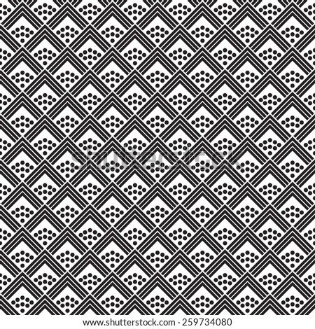 Japanese square vector seamless pattern. - stock vector