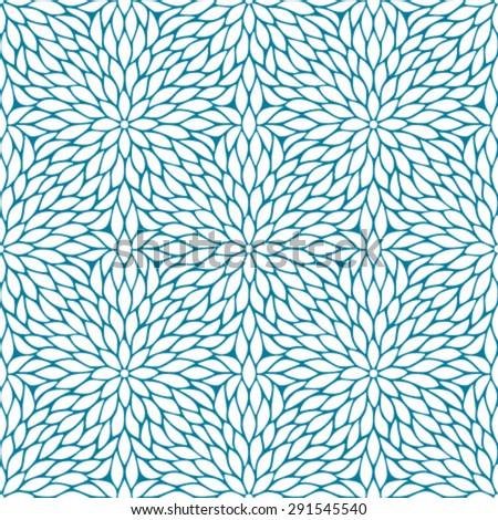 Japanese traditional pattern - mujinagiku - stock vector