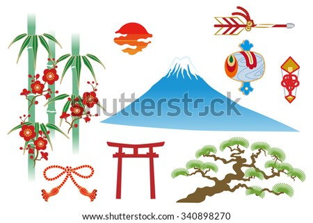 Japanese traditional thing - stock vector