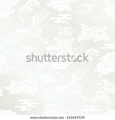 Japanese white kimono called shiromuku. Brides wear shiromuku at a traditional Japanese wedding.