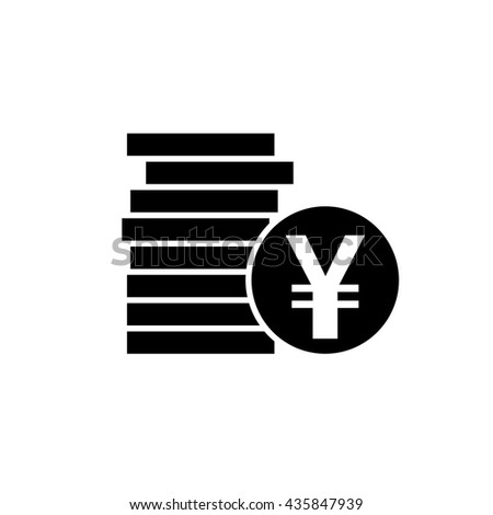 Japanese Yen Chinese Yuan Currency Symbol Stock Vector 435847939