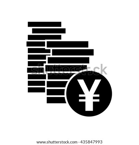 Japanese Yen Chinese Yuan Currency Symbol Stock Vector 435847993