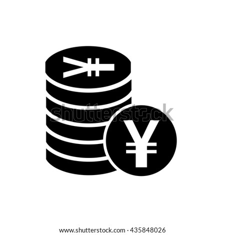 Japanese Yen Chinese Yuan Currency Symbol Stock Vector 435848026
