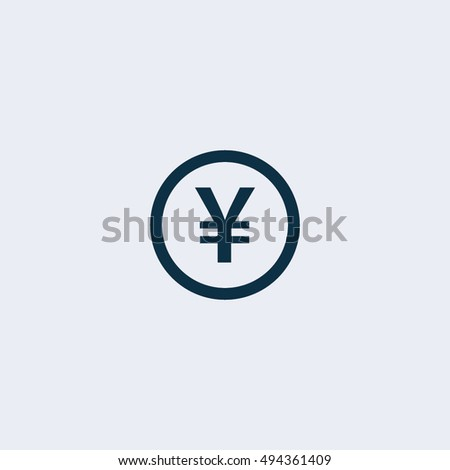 Japanese Yen Chinese Yuan Currency Symbol Stock Vector 494361409