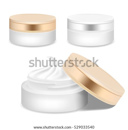 Jar of cream for the face for your design