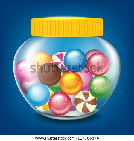 jar of sweets - stock vector
