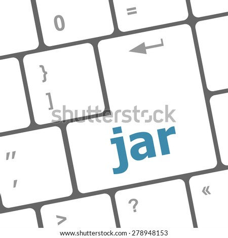 jar word on computer keyboard pc key vector