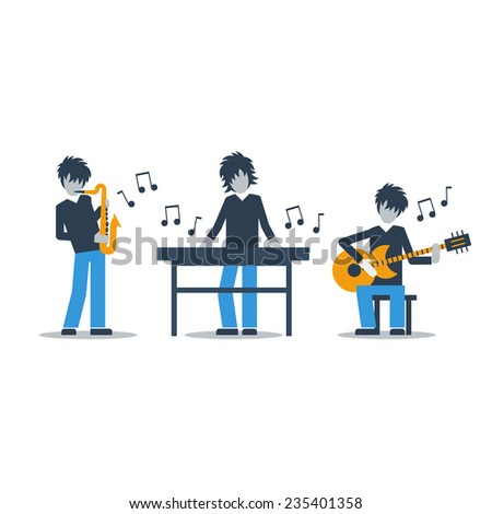 jazz band - stock vector