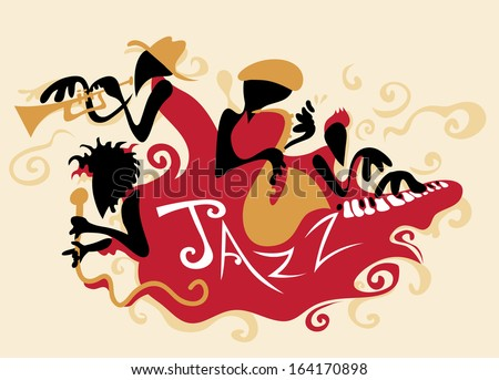 Jazz Band Abstract - stock vector