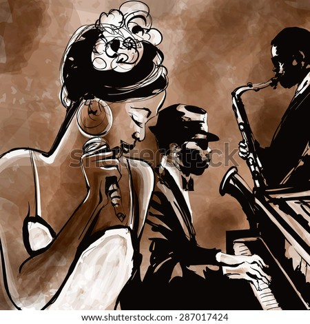 Music Girls buttholes vintage jazz