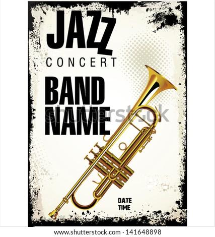 Jazz concert background - stock vector
