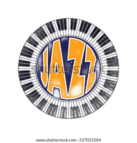 Jazz music party invitation design vector illustration - stock vector