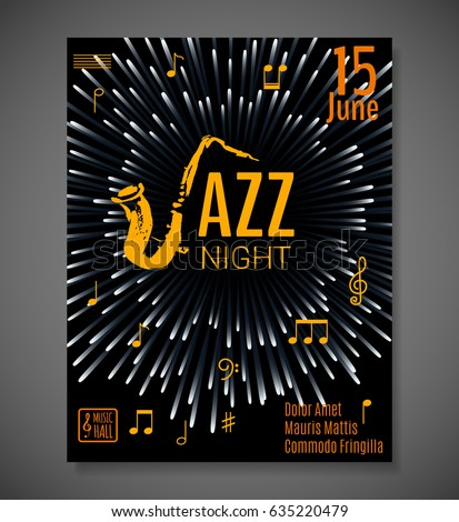 Jazz night background vector design poster stock vector hd royalty jazz night background vector design for poster flyer card invitation jazz stopboris Image collections