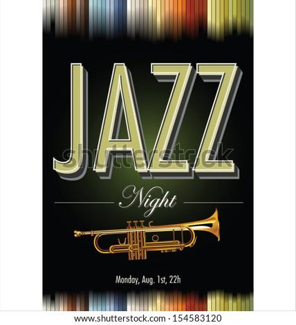 Jazz poster - stock vector
