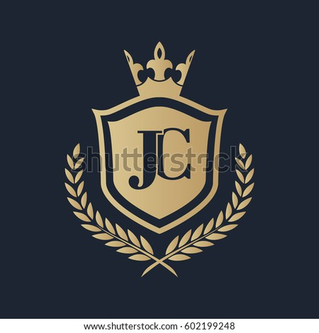 stock-vector-jc-logo-602199248 Jl Letter Logo Template on
