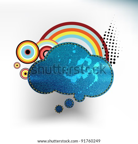 jean speech bubble - stock vector