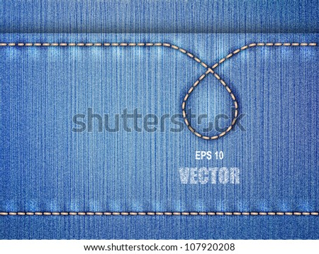 Jeans background - stock vector