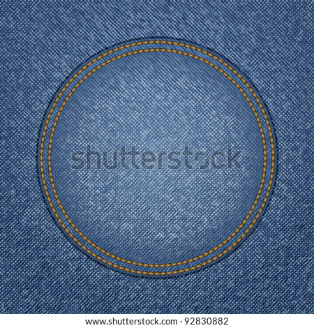 Jeans background, vector eps10 illustration - stock vector