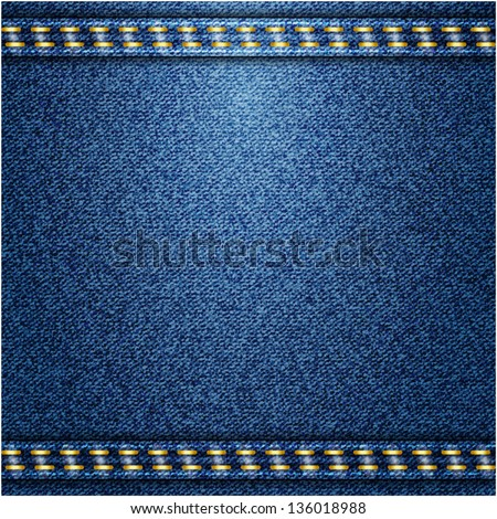 Jeans background. Vector texture - stock vector