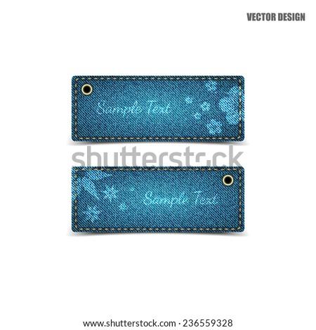 Jeans banner.vector - stock vector