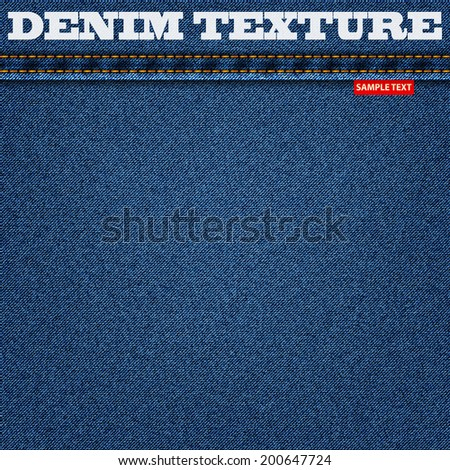 jeans blue texture denim background. vector illustration eps10 - stock vector