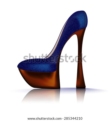 jeans shoe - stock vector