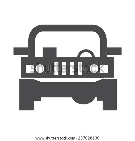 Jeep vector image to be used in web applications, mobile applications and print media.  - stock vector