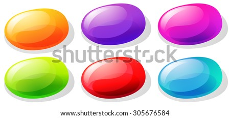 Jelly beans in many colors illustration