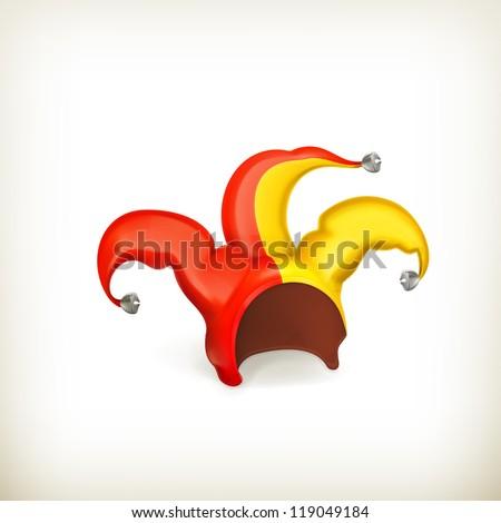 Jester cap, vector - stock vector