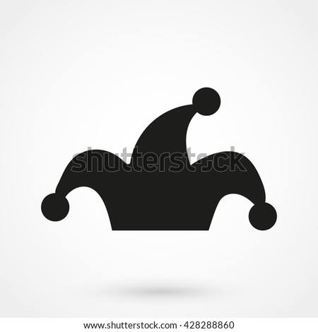 Jester hat Icon isolated on background. Modern flat pictogram, business, marketing, internet concept. Trendy Simple vector symbol for web site design or button to mobile app. Logo illustration - stock vector