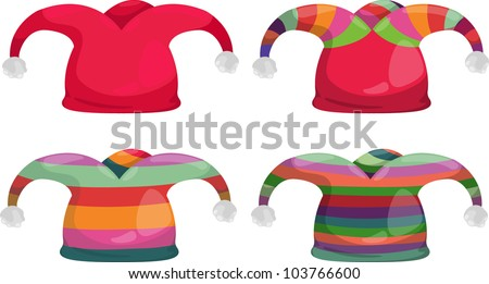 jester hat isolated vector illustration - stock vector