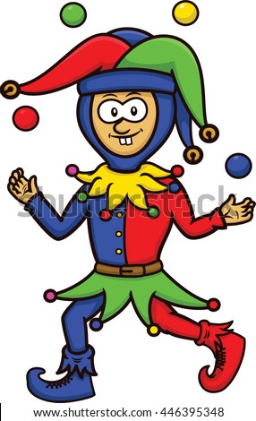 Jester Juggling Colorful Balls